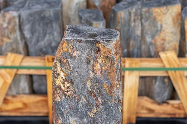 Schiefersäule Qingdao gebohrt, braun-bunt