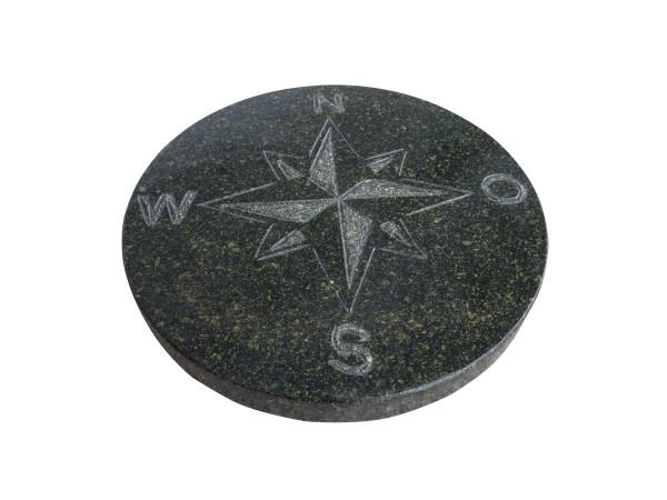 Granit-Trittplatte, Kompass anthrazit