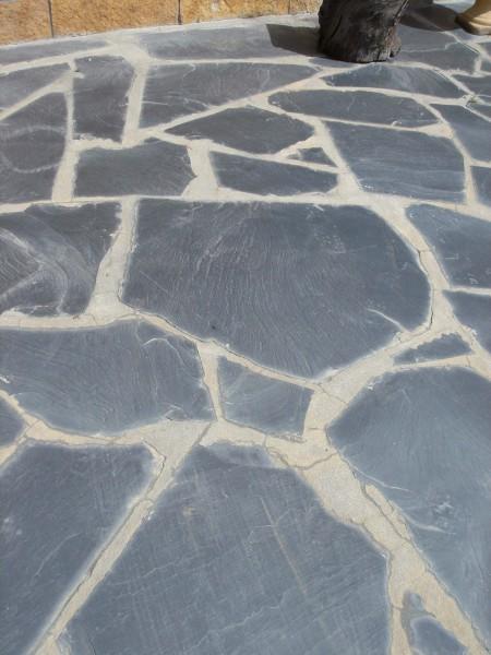 Schiefer schwarz Polygonal