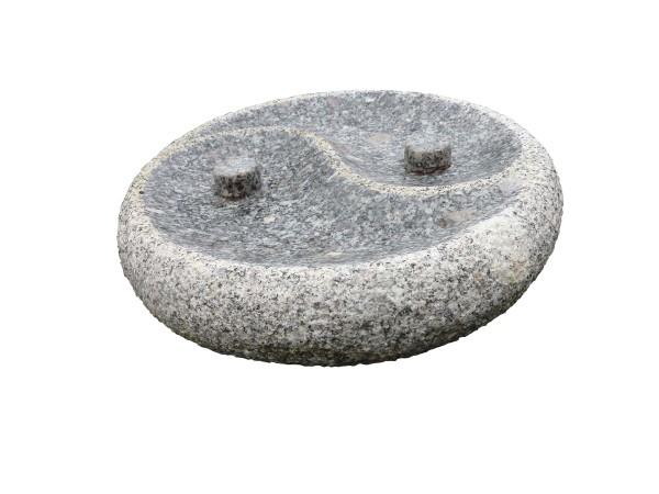 "Granit Vogeltränke ""Yin Yang"""