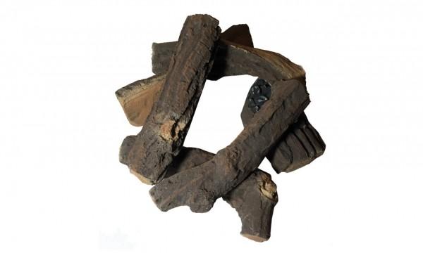 Dekor-Brennholz natur