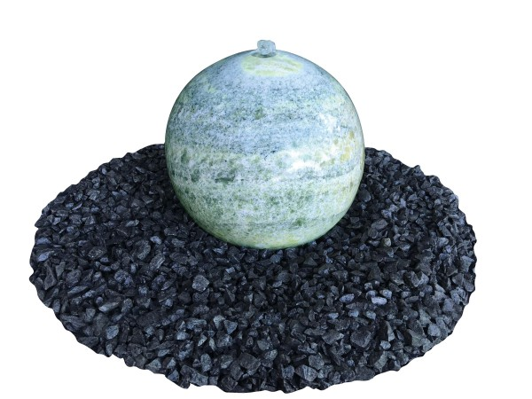 Marmor-Kugel grün, poliert