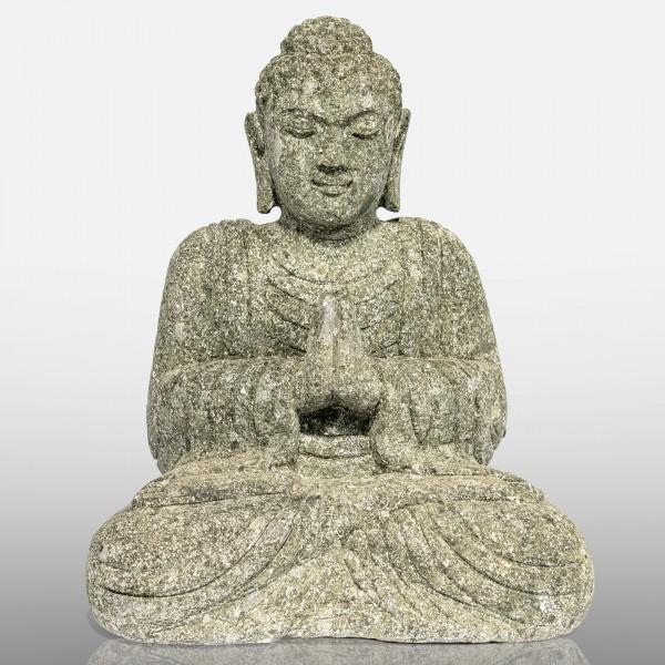 Greenstone Buddha, sitzend