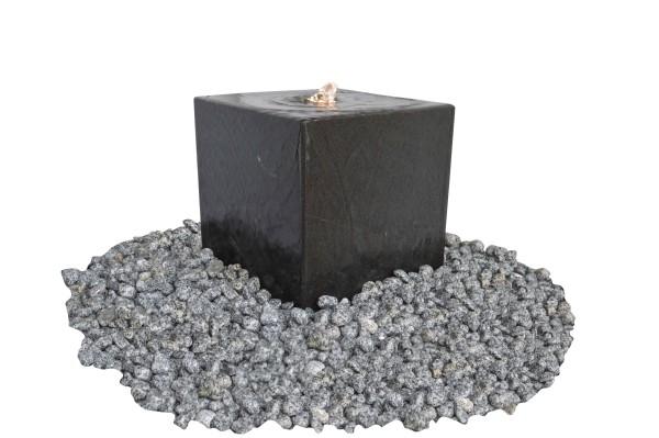 Granit-Würfel anthrazit, poliert, 50 mm Bohrung
