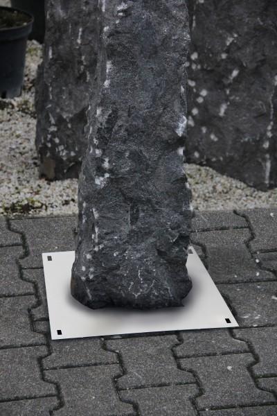 Steinsicherung zum Aufdübeln auf dem Boden