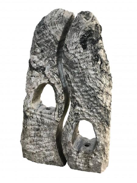 Twin-Rock gebohrt,Mountain-Stone, Granit, Wasserspiel