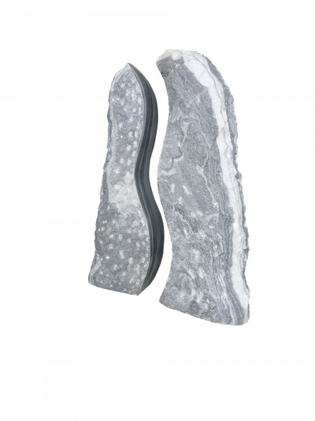 Twin Rock ungebohrt, grau-weiß