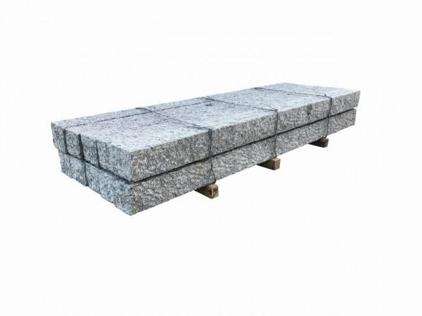 Granit-Palisade, grau, spaltrau