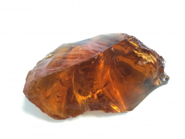 Glasbrocken amber