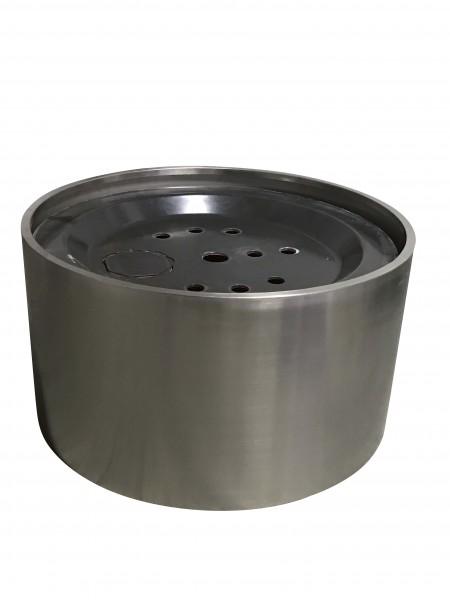 Edelstahl-Umrandung für GFK-Becken H 37,5 cm