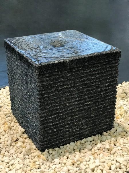 Granit-Würfel anthrazit, geriffelt