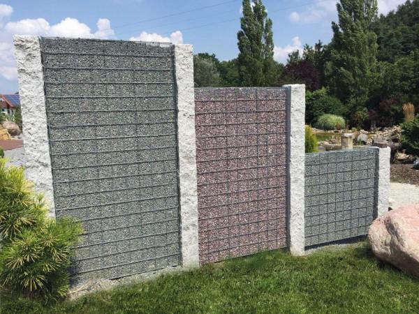 Granit-Palisade, grau, spaltrauh