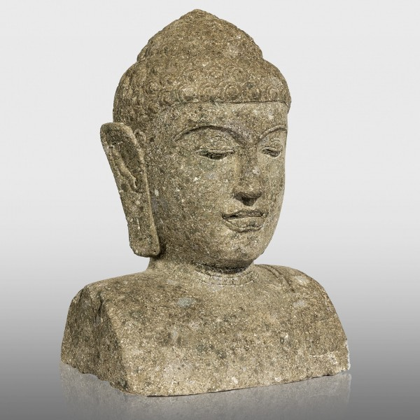 Greenstone Buddha Büste