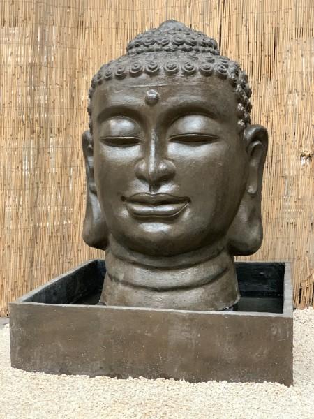 Wasserspiel Buddha Kopf + Becken Abverkauf