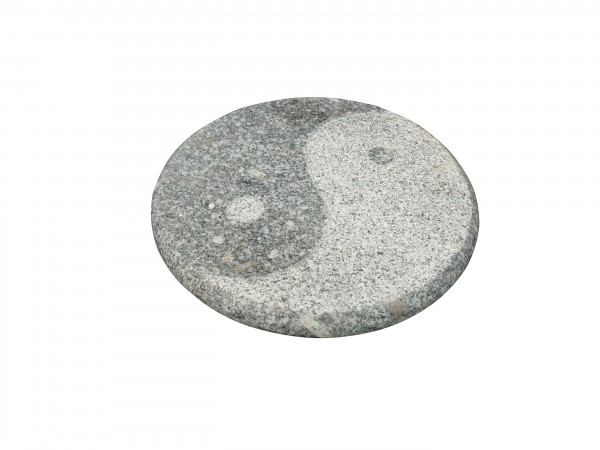 Granit-Trittplatte Yin Yang grau