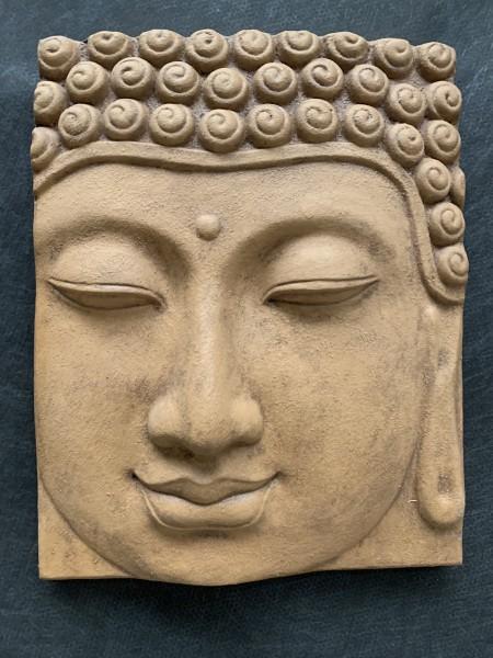 Broken Buddha Face Wandrelief ,Abverkauf