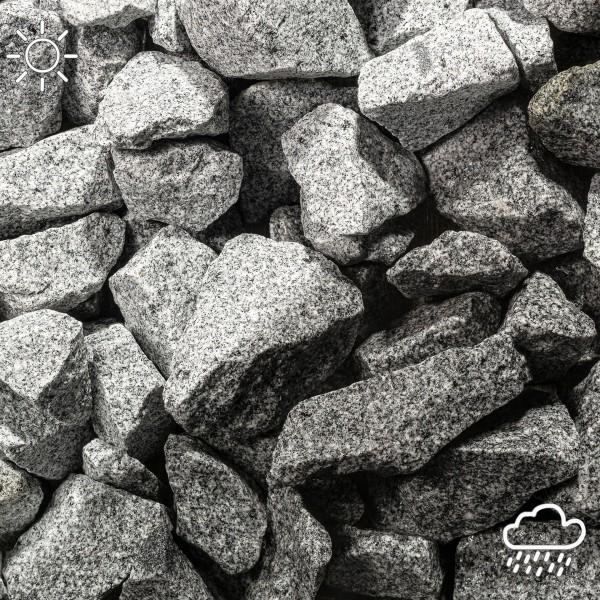 Granit Bruchstein grau