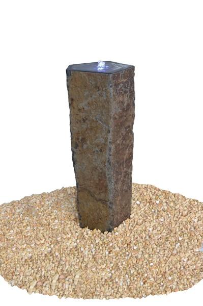 Basaltsäule Capri mit Kelch, gebohrt