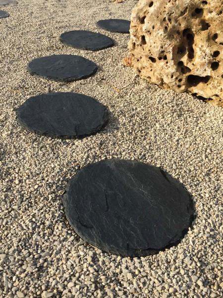 Blackline Schiefer Trittplatte, rund