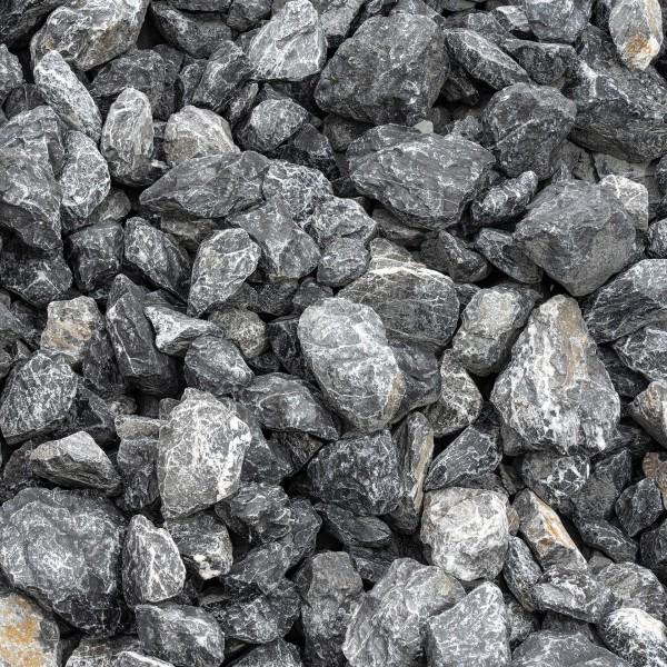 Bruchstein grau weiß