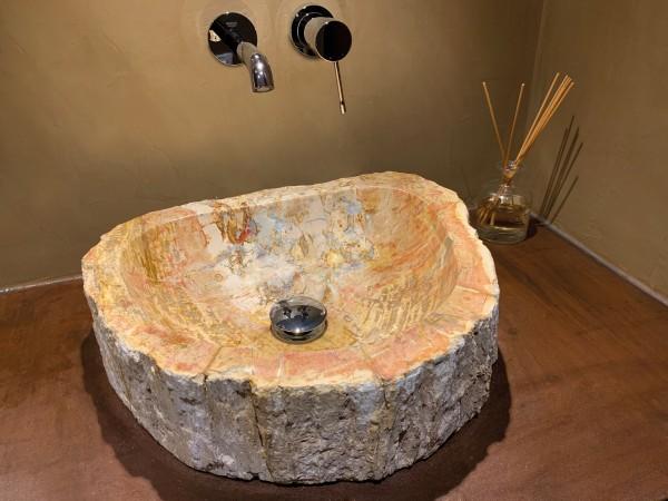 Waschbecken versteinertes Holz