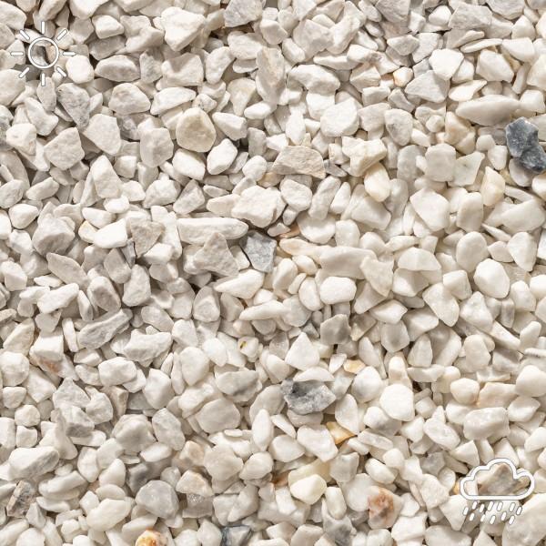 Marmorsplitt weiß