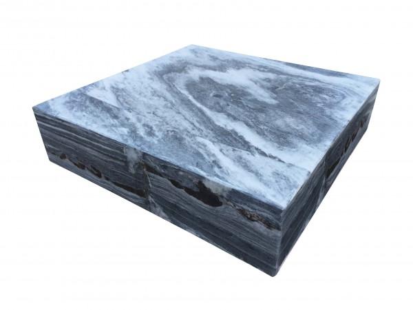 Marmor-Wasserspiel Sevilla grau-weiß, poliert, gebohrt