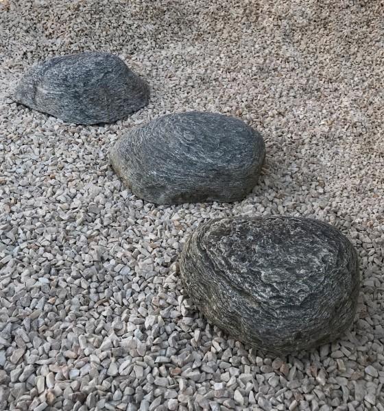 Flusskiesel Trittplatten