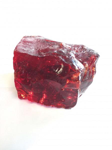 Glasbrocken kristallrot