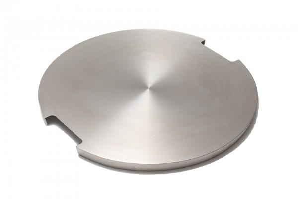 Edelstahl-Abdeckplatte, rund