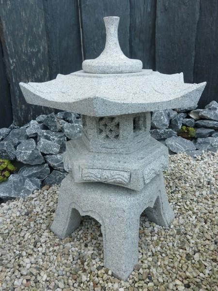 Granit Laterne Rokkaku Yukimi H75