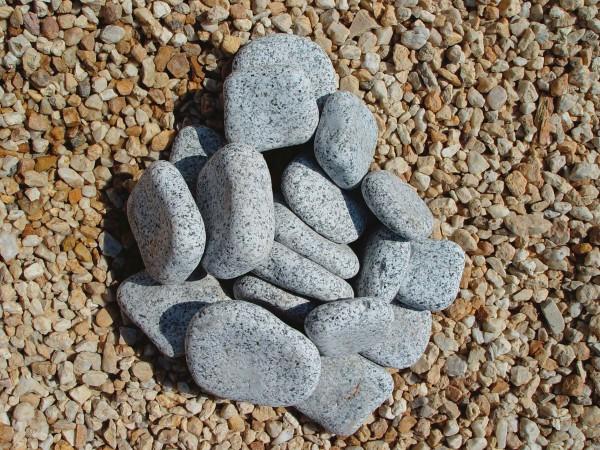 Beach Pebbles grau, flach