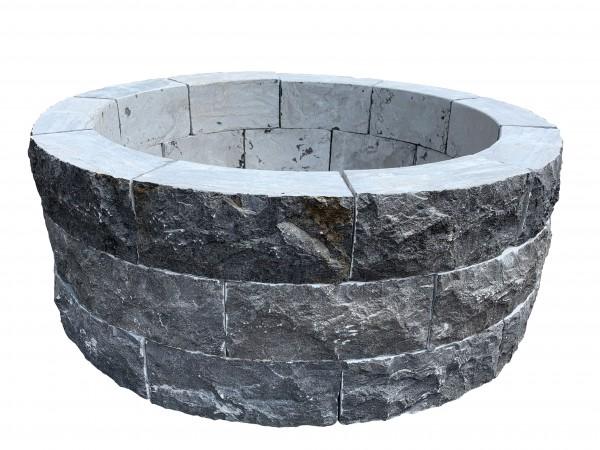 Blaustein-Umrandung für 66´er GFK-Becken