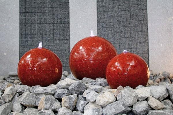 Edelstahl-Kugelbrunnen ''Red River'' KPL-Set